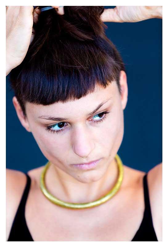 Deutsche Film- und Theaterschauspielerin Sophia Haider beim Agentur Sedcard Portrait Shooting mit berliner Fotograf Binh Truong.